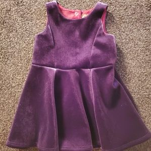 Oshkosh Purple Velvet Lined Dress